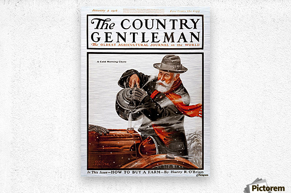 Cover of Country Gentleman agricultural magazine from the early 20th century. .  Metal print