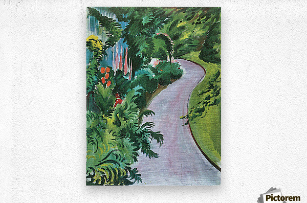 Path in the garden by August Macke  Metal print