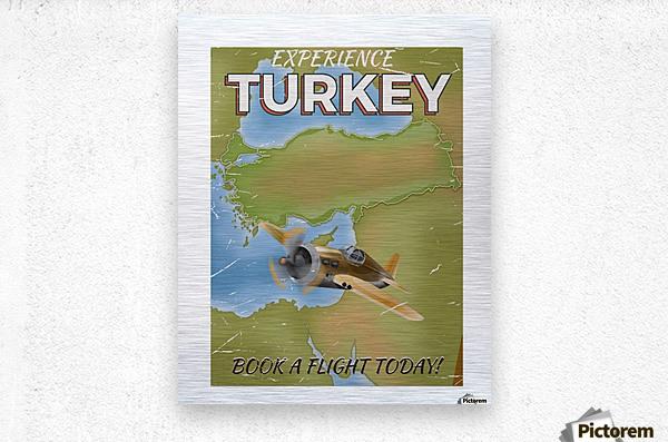 Turkey vintage travel poster  Metal print