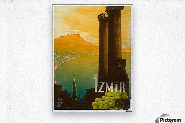 Turkey Izmir vintage travel poster  Metal print