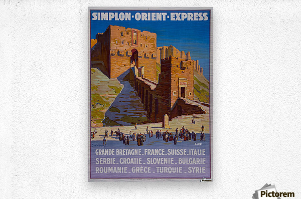 Simplon Orient Express Poster  Metal print