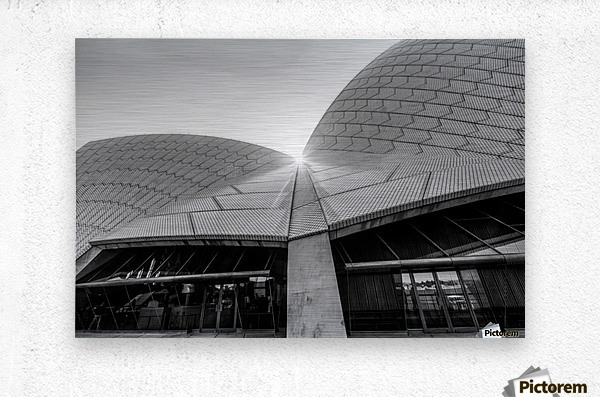 Curves at the Opera House  Metal print