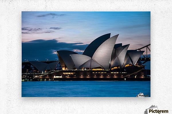Glowing Opera House  Metal print