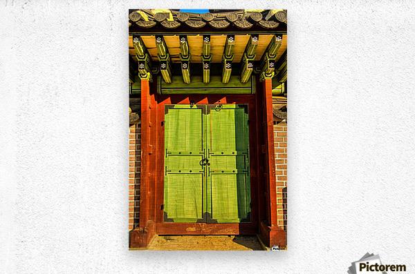 Korean Door  Metal print
