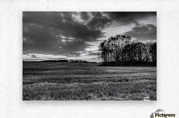 After Prairie Harvest  Metal print