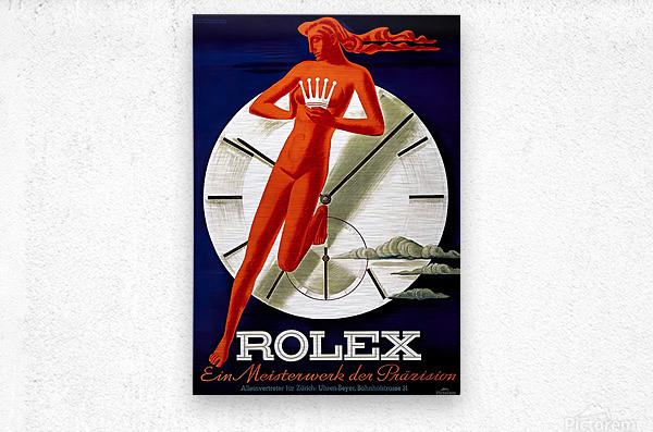 1942 Beyer Zurich Rolex Poster  Metal print
