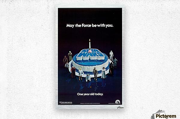 1978 Star Wars Birthday Cake Poster  Metal print