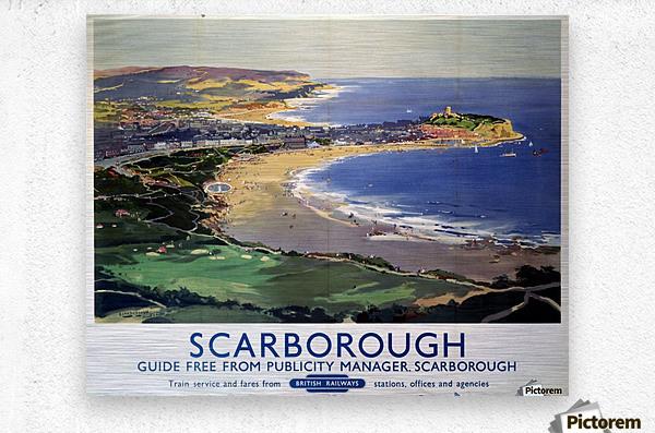 Scarborough British Railways poster  Metal print