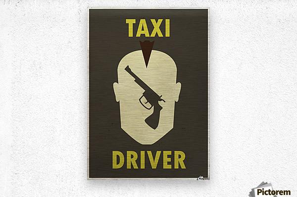 Taxi Driver Vintage Movie Poster  Metal print