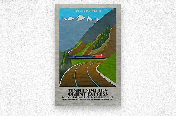 Simplon Orient Express The Alpine Route  Metal print