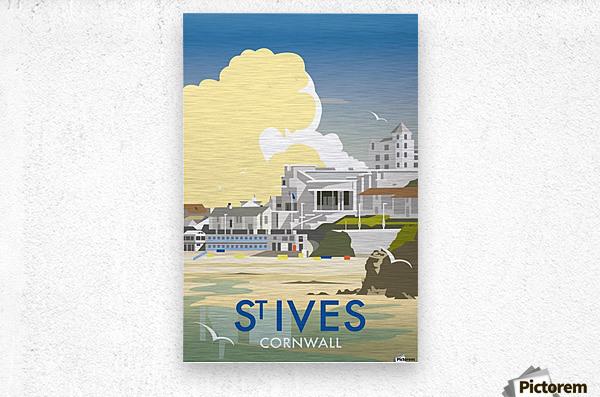 Saint Ives Cornwall vintage travel poster  Metal print