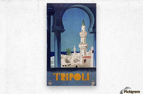 Tripoli travel poster  Metal print
