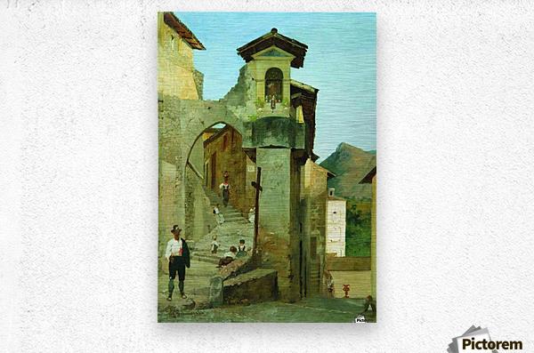 Italian courtyard  Metal print