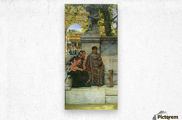 At the time of Constantine by Alma-Tadema  Metal print