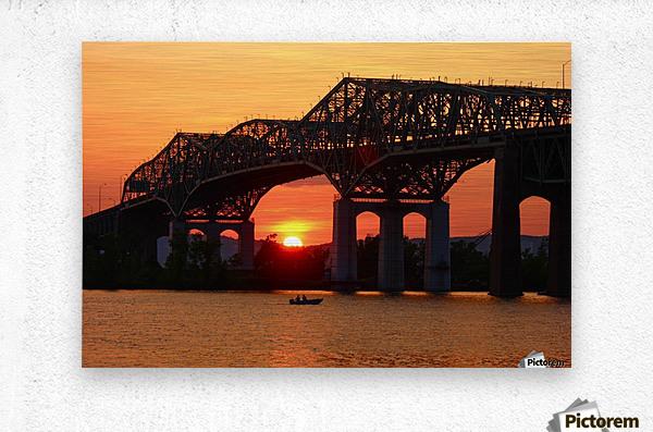 Champlain Bridge sunset  Metal print