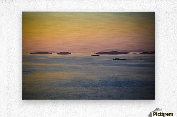 Adriatic islands  Metal print