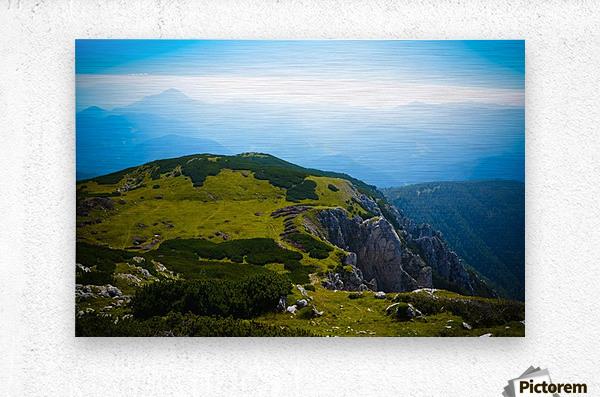 Alpine views  Metal print