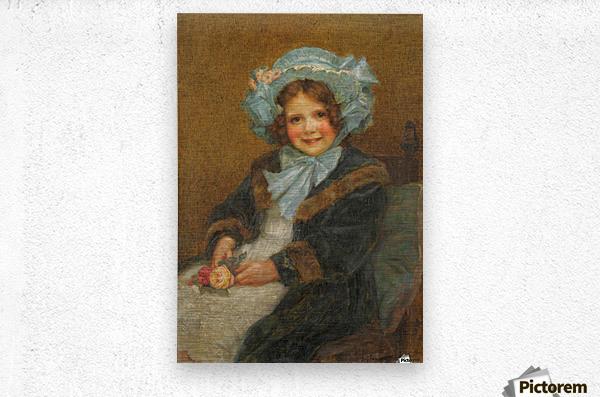 Joyce, daughter of Arthur E J Hinchcliffe Esq  Metal print
