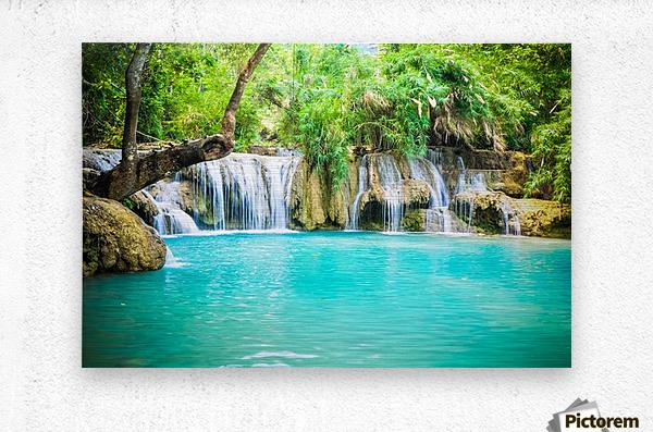 Luang Prabang waterfalls  Metal print