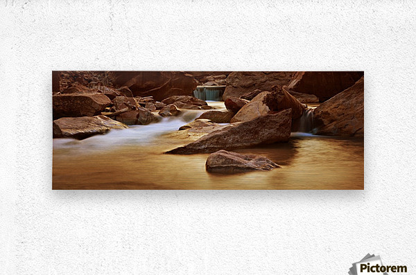 Zion Park River  Metal print