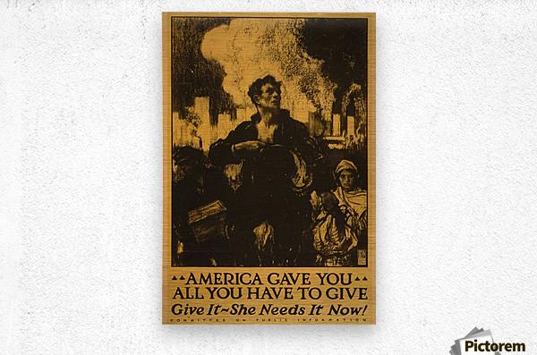 America gave it all  Metal print