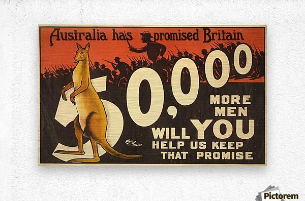 Australia has promised Britain  Metal print
