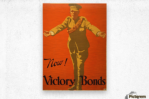Buy Victory Bonds  Metal print