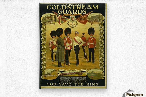 Coldstream Guards  Metal print