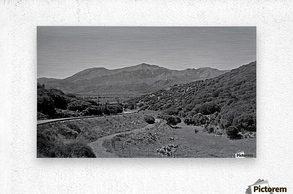 Greek roads in the rural area  Metal print