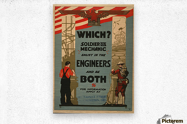 Engineers  Metal print