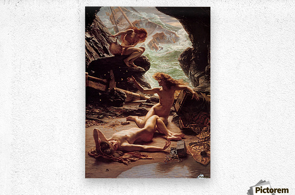 Cave of the storm nymphs  Metal print