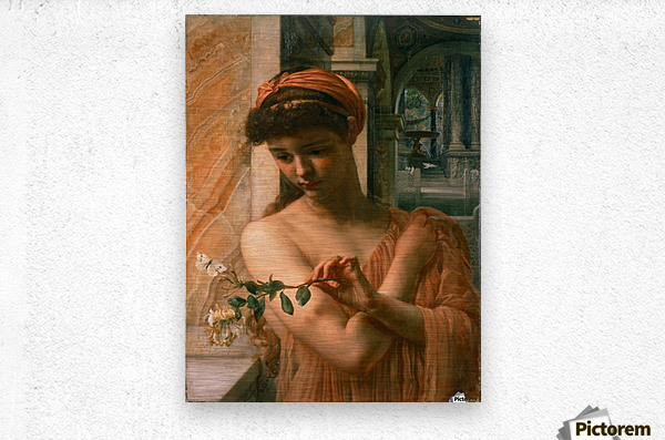 Psyche in the temple of love  Metal print
