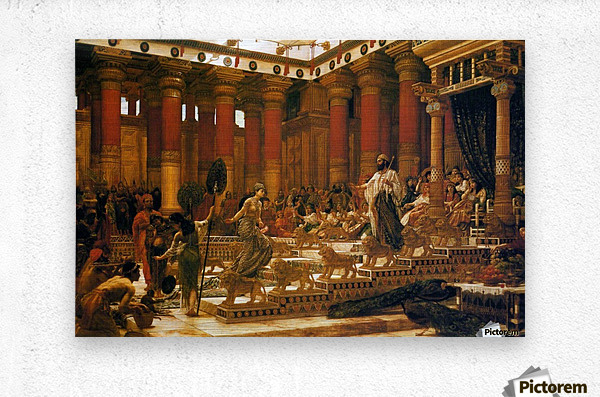 The Visit of the Queen of Sheba to King Solomon  Metal print