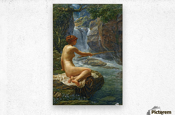The Nymph of the Stream  Metal print