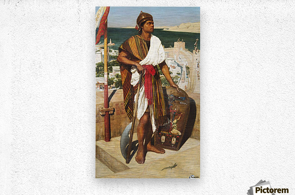On guard in the time of the pharaons  Metal print