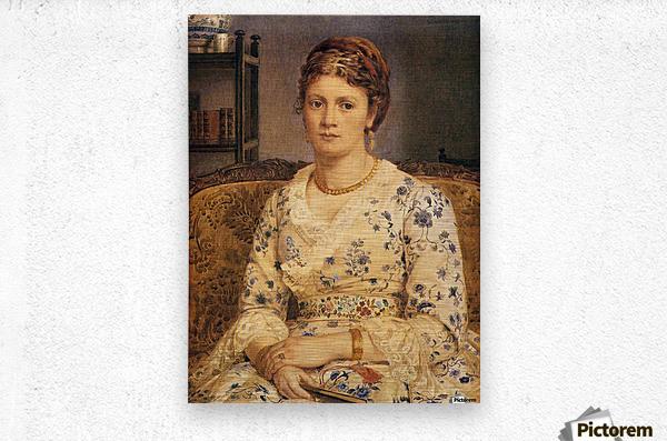Portrait of Mrs J P Heselitine  Metal print