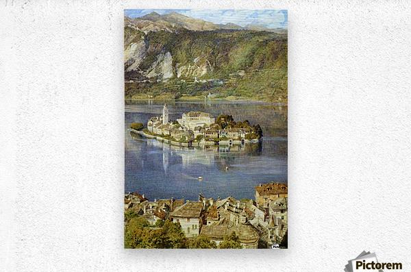 Isola San Giulio, 1898  Metal print