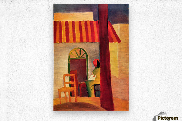 Turkish Cafe by August Macke  Metal print