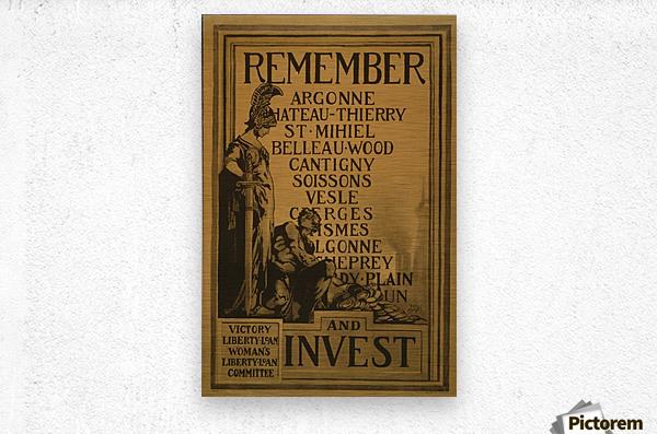 Invest  Metal print