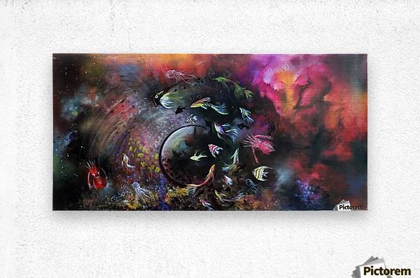 THE DANCE IN OCEAN THE CIRCLE OF LIFE  Metal print