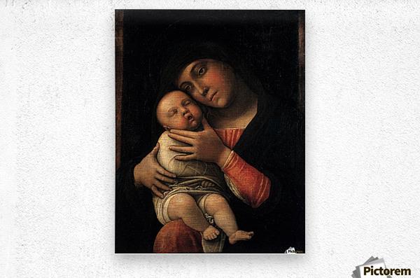 Portrait of Virgin and Child  Metal print