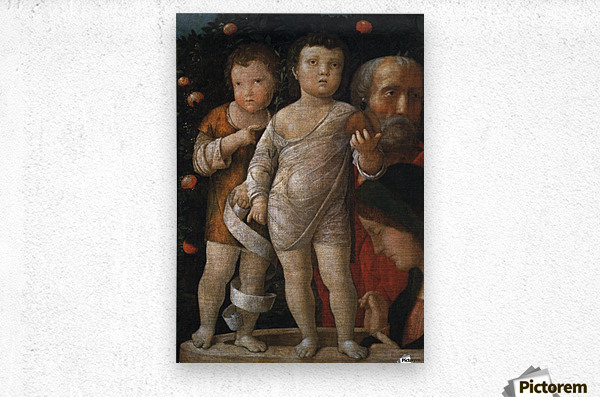 The Holy Family with St John  Metal print