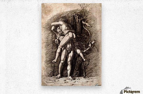 Hercules and Antaeus  Metal print