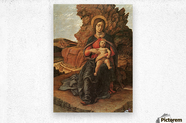 Madonna of the Cave  Metal print