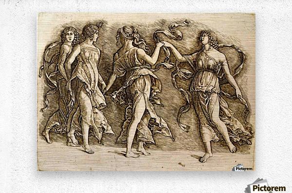 Four Muses  Metal print