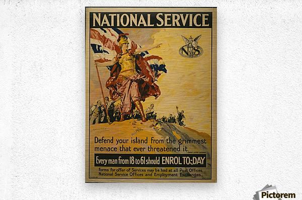 National Service  Metal print