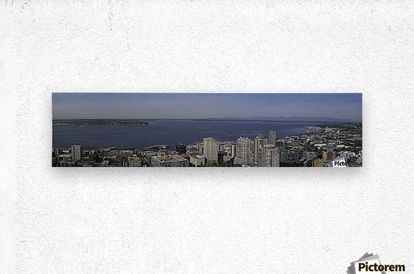 Westward Seattle Panoramic  Metal print