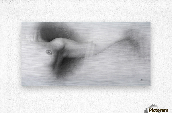Nude Drawing  Metal print