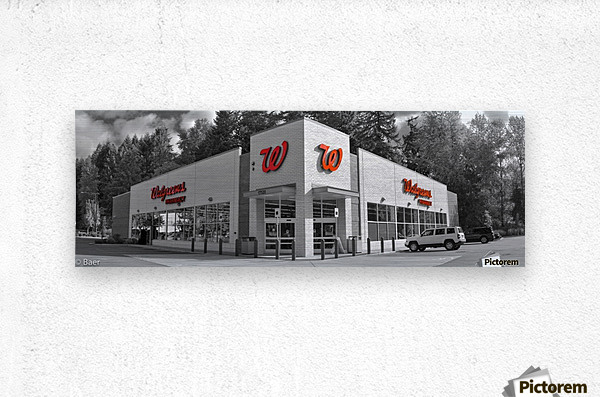 Walgreens panoramic metal print