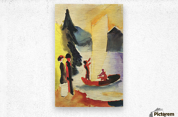 Yellow Sail by August Macke  Metal print
